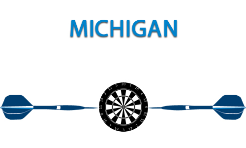 Michigan Dart Portal Centerpiece